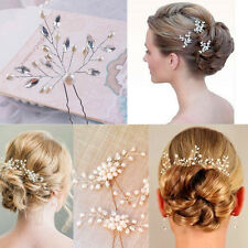 Vintage Wedding Bridal Pearl Flower Crystal Hair Pin Bridesmaid Clip Side Comb!