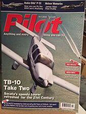 Pilot Magazine Oct 16 TB-10 Refresh CB-IR P51 Earls Colne