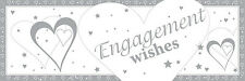 9ft Engagement Wishes Foil Banner Party Decorations Silver