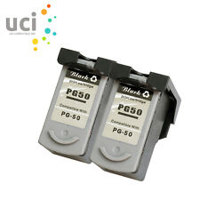 2 Black Ink Cartridge for PG50 Pixma MP170 MP180 MP450 MP460 MX300 MX310