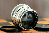 Silver JUPITER 8 2/50 Red (P) Rangefinder Russian Lens for M39 L39/M42 FED Leica