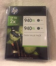 Genuine HP 940 XL Black Ink Cartridge TWIN PACK Expired 06/2013