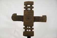 "Geometric Dogon Door Lock 15"" - Mali - African Art"