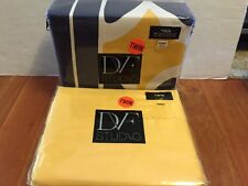 DVF CHAIN LINK Twin DUVET Cover & Sensation Sheets Blue Gold Yellow Bedding Set