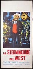 CINEMA-locandina LO STERMINATORE DEL WEST zachary scott A.CROSLAND