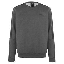 ADIDAS Mens 3 Stripe Sweatshirt Dark Grey / Black Size Small BNWT