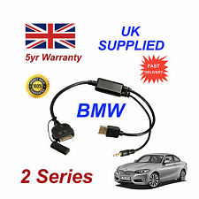BMW 2 Series (611204407) For Apple 3GS 4 4S iPhone iPod USB & 3.5mm Aux Cable