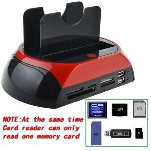 """HDD Docking Station mit zwei Festplatten für 2,5"""" 3,5"""" IDE SATA USB 2.0 Hub DHL"""