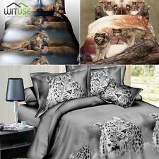 3D BEDDING SET ANIMALS PRINT DUVET QUILT COVER PILLOWCASE FOR TWIN/QUEEN BED 41