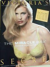 """Victoria's Secret 1998 Fall Fashion #2 Daniela Pestova sexy cover """"Miracle Bra"""""""