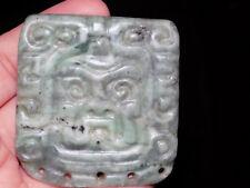 Pre-Columbian Pectoral Jade Pendant, Authentic 100% , Costa Rica