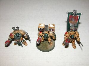 Warhammer 40K 3 Dark Angels Pro Painted 2 Need Bases Combined Shipping