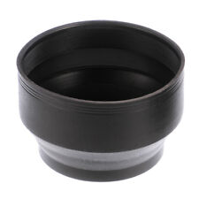 49mm 3in1 3-Stage Collapsible Rubber Lens Hood  For Canon Nikon Sony DSLR Camera