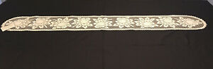 """Heritage Lace Piano Runner Ecru Alpine Rose Vintage New Doilies Doily 8""""x 58"""""""