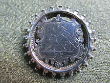 C19th Silver Brooch / Badge with the Arms of the City of Preston in Lancashire.