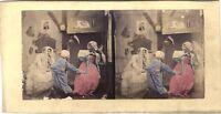 Scena Da Genere Compiegne Théâtre Foto Colorata Stereo Vintage Albumina c1860