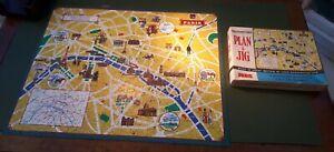Vintage 1960s Waddingtons 'Plan-A-Jig' PARIS MAP Jigsaw (#501). Boxed & Complete