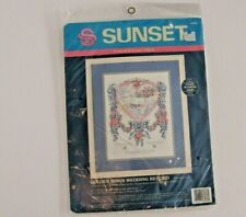 SUNSET Dimensions Golden Rings Wedding Record Counted Cross Stitch Kit 13580