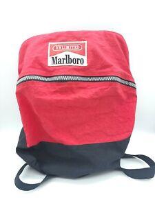 Vintage Marlboro Unlimited Zip 90s Backpack From Duffel Bag Adjustable Straps