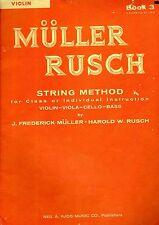 Vintage TEACH YOURSELF VIOLIN Book 3 Muller Rusch Seies.