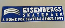 Eisenbergs Skatepark A Home For Skaters Sticker Blue/Grey/White  11.5 x 3""