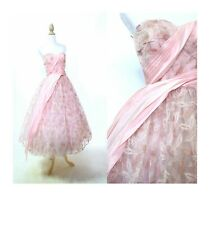 Pink and Gold Leaf Print Prom Dress Lace Metallic Embroidered Evening Tea Length