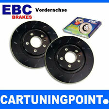 EBC Brake Discs Front Axle Black Dash for Fiat 500 USR286