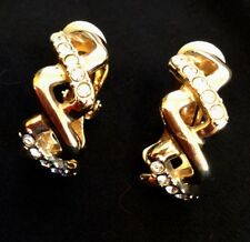 Swarovski Crystal Gold Hoop Clip-on Earrings