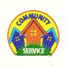 Girl Boy Cub COMMUNITY SERVICE House Patches Crests Badges SCOUT GUIDE Volunteer