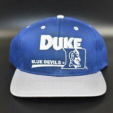 Duke Blue Devils Vintage 90's Twins Enterprise Adult Snapback Cap Hat - NWT