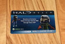 Halo Reach Exclusive Noble 6 Avatar Helmet Card Rare Promo Card Xbox 360 2010