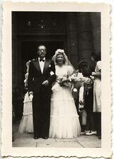 Mariage mariés coupe homme femme - photo ancienne an. 1942