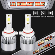 9012 HIR2 LED Headlight Bulbs Replace High Low Beam 1080W 162000LM 6000K White