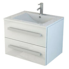Badset Arosa weiß Waschtisch Badezimmerset Badezimmermöbel 60 cm Waschbecken