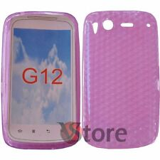 Cover Custodia Per HTC Desire S Rosa Fucsia Gel Silcone TPU Diamond