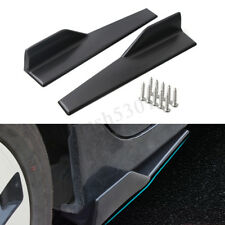 2Pcs Universal Car Anti-Scratch Side Skirt Rocker Splitters Winglet Wing Canard
