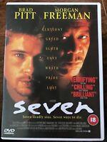 Seven DVD 1995 Serial Thriller Classic with Brad Pitt and Morgan Freeman