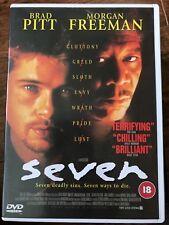 Brad Pitt SEVEN ~ 1995 Deadly Sins Serial Killer Thriller Classic   UK EiV DVD