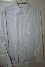 Tommy Bahama Cotton/Nylon Mens Button Front Long Sleeve White Shirt XL EUC