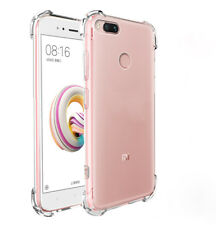 1x 360° Shockproof Soft Silicone Transparent Back Case Cover For Xiaomi Mi A1/5X