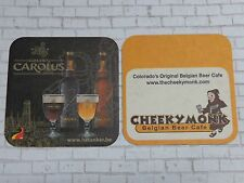 Beer Bar COASTER ~*~ HET ANKER Brewery GOUDEN CAROLUS ~ Cheeky Monk, Denver, CO