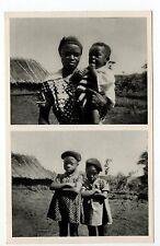 AFRIQUE FRANCAISE Colonie française CAMEROUN maman et ses 3 enfants  YOKO