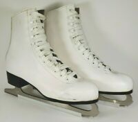 American Rocket Lined Leather Figure Ice Skates Women's Size 9 - White (52409)