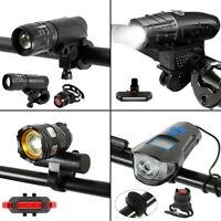 LED Fahrradbeleuchtung USB MTB Fahrradlampe Set Rücklicht+ Horn& Kilometerzähler