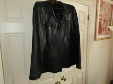 DKNY , Men's Black  Leather Jacket , XL