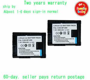2 x 850mAh Battery for BP-808 Canon FS36 FS37 FS46 FS305 FS306 AU-ship