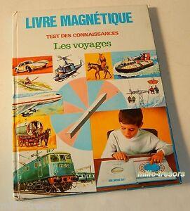 LIVRE MAGNETIQUE - TEST des CONNAISSANCES : les VOYAGES - 1971 - Auto Aviation