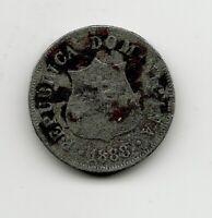 World Coins - Dominican Republic 2 1/2 Centavos 1888 Coin KM# 7