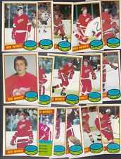 1980 OPC Team SET Lot of 16 Detroit RED WINGS NM o-pee-chee FOLIGNO (R) GILBERT