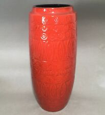 Scheurich ceramic vase, Hellas decor Line, 264-30, West German Pottery RED MCM